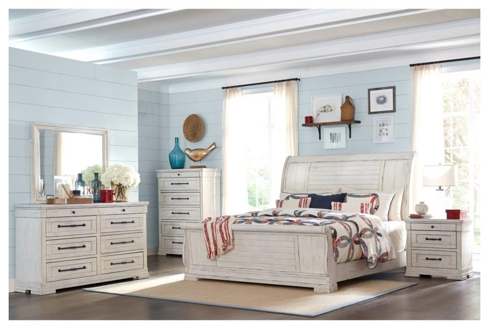 Queen Sleigh Bed Package
