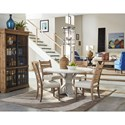 Trisha Yearwood Home Collection by Klaussner Coming Home Five Piece Dining Set with Get Together Table and Contrasting Ladderback Chairs