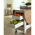 Trisha Yearwood Home Collection by Klaussner Coming Home Neighbors Gate Leg Dining Table with Drop-Front Table Leaves and Pull-Through Storage Drawers