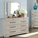 Trisha Yearwood Home Collection by Klaussner Coming Home Dresser & Mirror Set - Item Number: 926-650+660