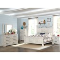 Trisha Yearwood Home Collection by Klaussner Coming Home Haven Dresser and Mirror Set with Jewelry Tray Drawer and Built-In Power Strip