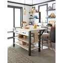 Trisha Yearwood Home Collection by Klaussner Coming Home Reunion Kitchen Island with Drop-Front Table Extension Leaf