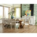 Trisha Yearwood Home Collection by Klaussner Coming Home Ten Piece Formal Dining Room Group - Item Number: 927 Formal Dining Room Group 1