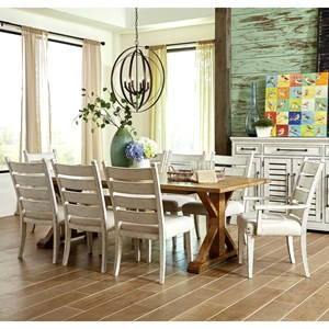 Trisha Yearwood Home Collection by Klaussner Coming Home 9 Pc Dining Set & Table and Chair Sets | Memphis Nashville Jackson Birmingham Table ...