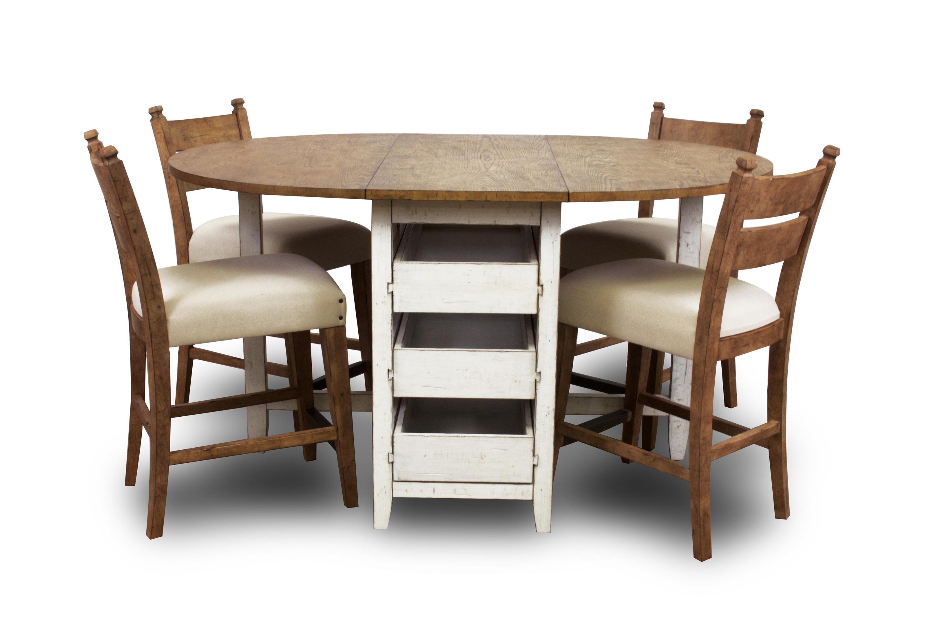 Trisha Yearwood Home Collection by Klaussner Coming Home Dining Table & 4 Pub Height Chairs - Item Number: D17926-P5PC