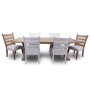 Trisha Yearwood Home Collection by Klaussner Coming Home 7-Piece Dining Set