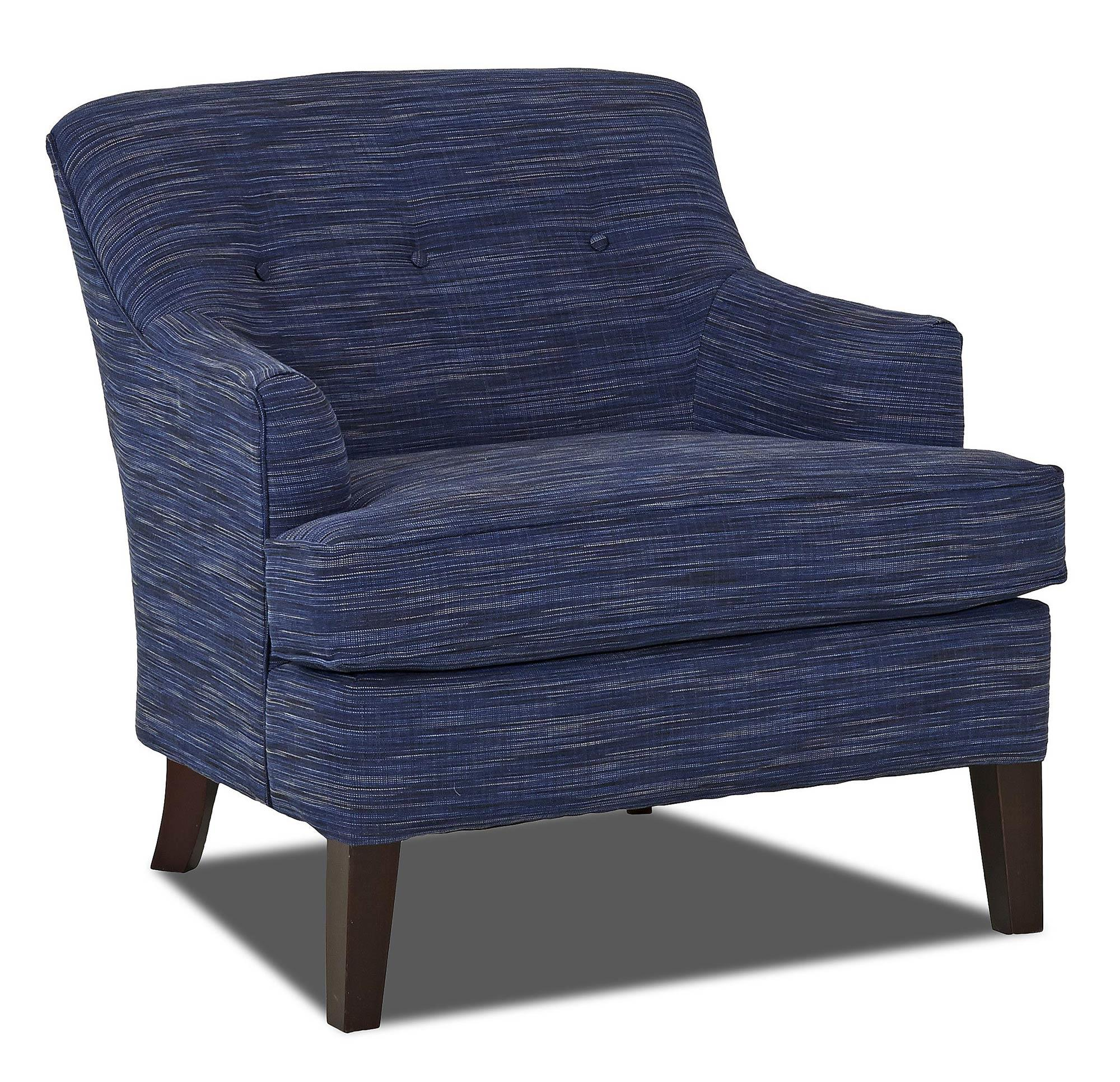Trisha Yearwood Home Collection by Klaussner Elizabeth Occasional Chair - Item Number: K71800 OC-LaneyNavy