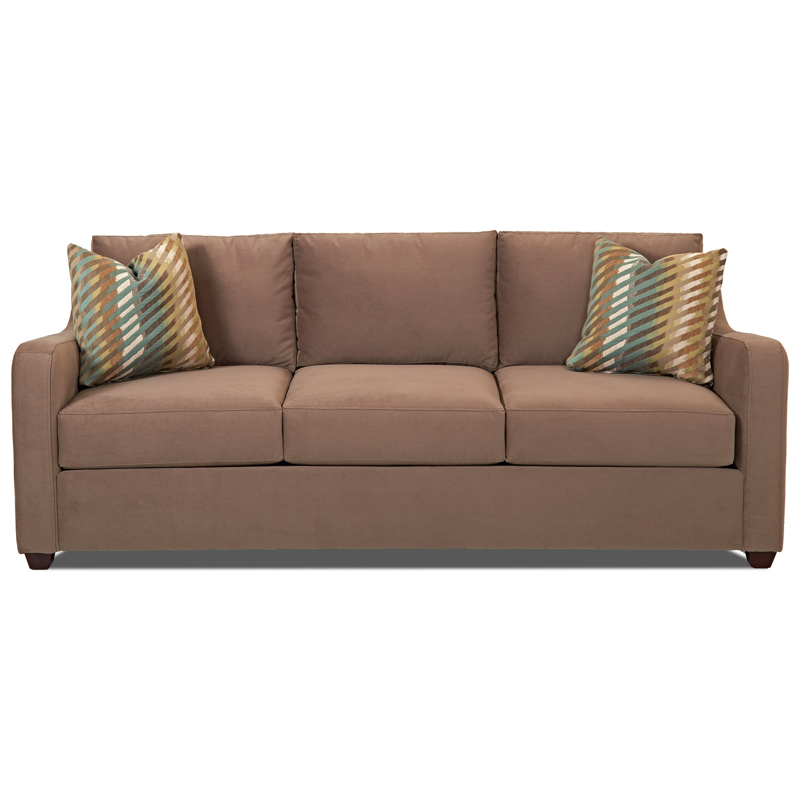 Klaussner Greer Enso Memory Foam Queen Sleeper Sofa - Item Number: K29200 EQSL-OAKL - MOCH