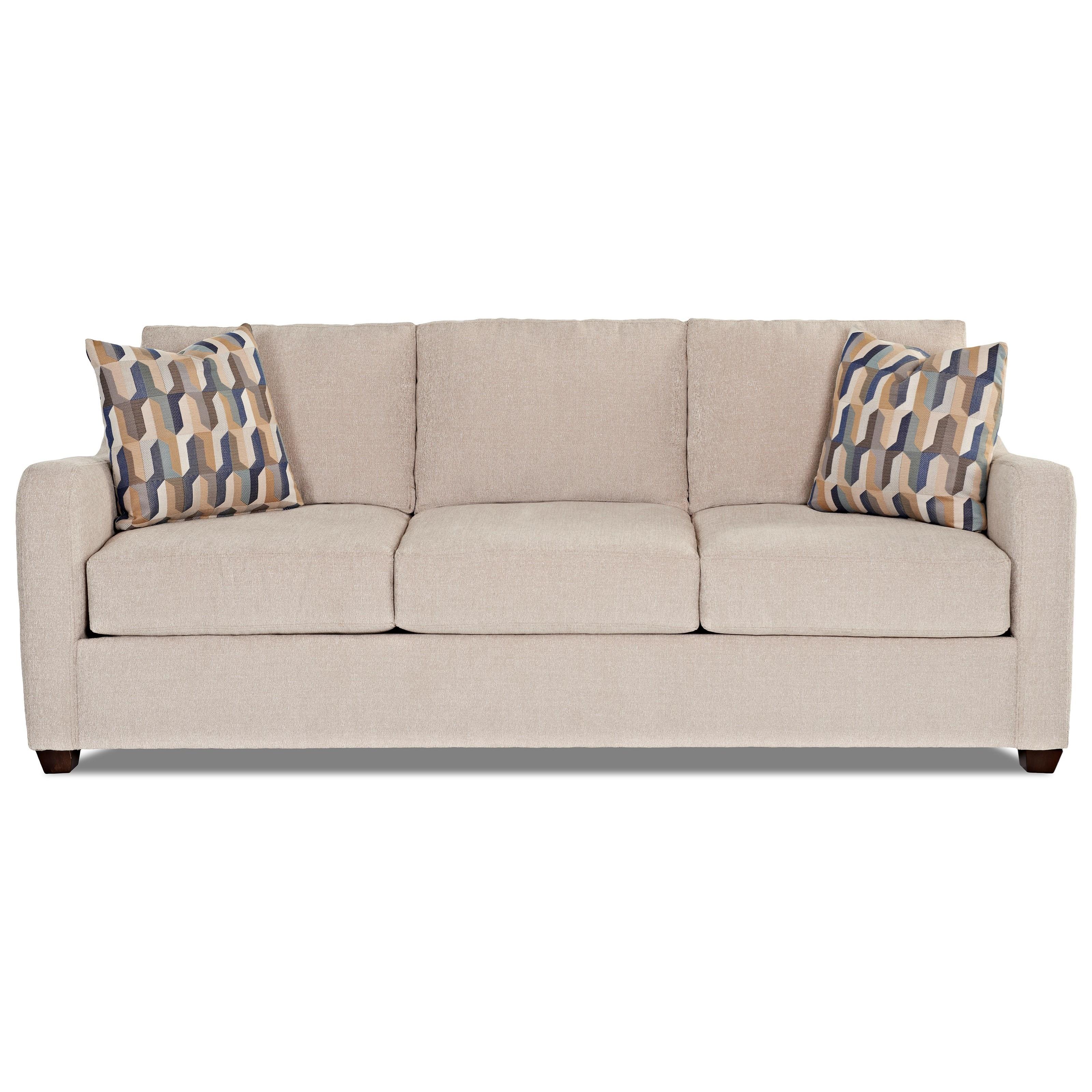 Klaussner Greer Enso Memory Foam Queen Sleeper Sofa - Item Number: K29200 EQSL-THEO - PLAT