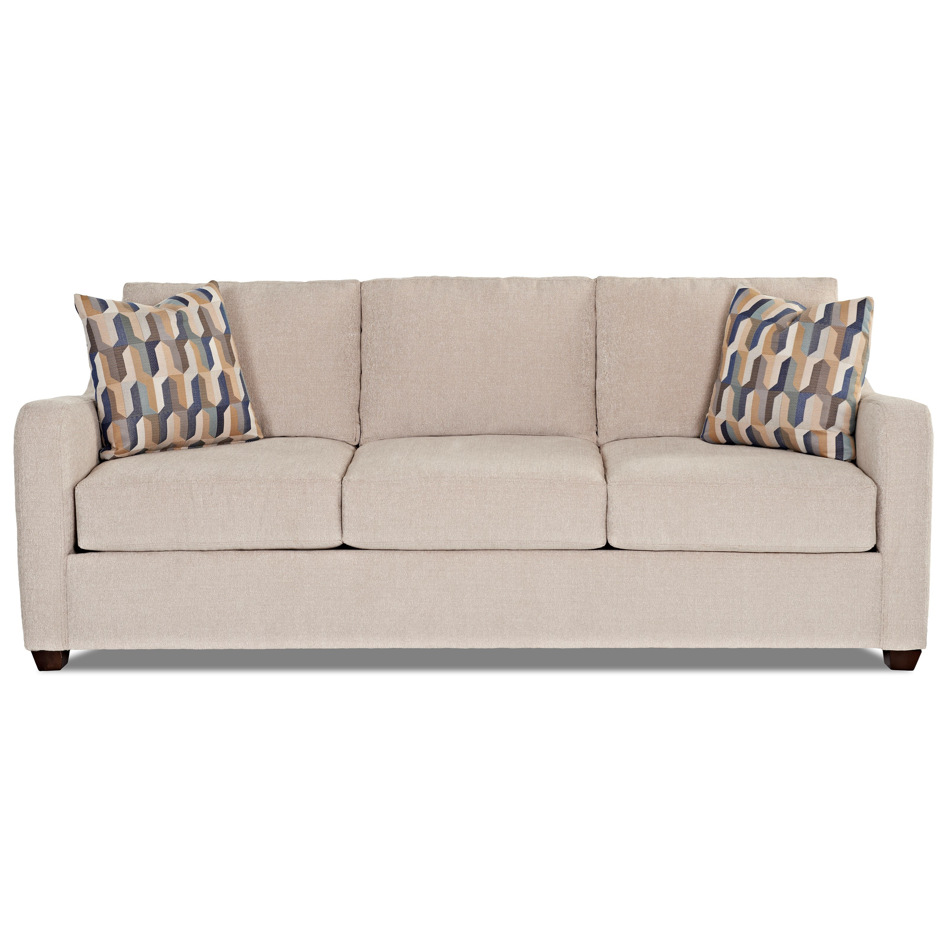 Klaussner Greer Air Coil Mattress Queen Sleeper Sofa - Item Number: K29200 AQSL-THEO - PLAT