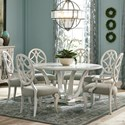 Trisha Yearwood Home Collection by Klaussner Jasper County 7 Pc Dining Set - Item Number: 790-030+3X905+3X900