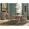Trisha Yearwood Home Collection by Klaussner Jasper County Formal Dining Group - Item Number: 791 Dining Room Group 1
