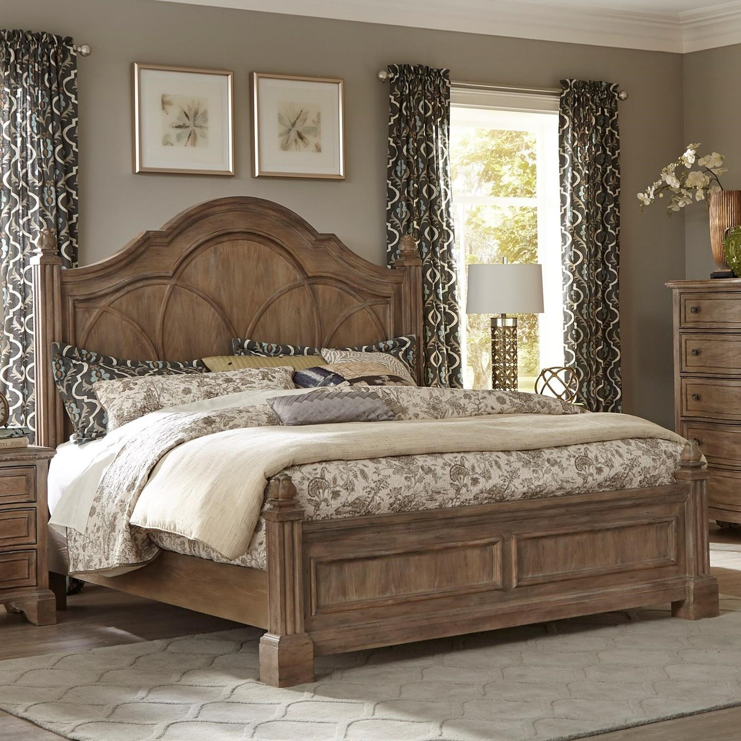 Trisha Yearwood Home Collection By Klaussner Jasper County 791 366 Kbed Jasper King Poster Bed Hudson S Furniture Panel Beds