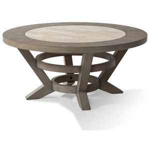 "Trisha Yearwood Home Collection by Klaussner Music City ""Hello, I'm Gone"" Round Cocktail Table"