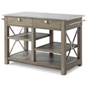 "Trisha Yearwood Home Collection by Klaussner Music City ""Here Comes Temptation"" Kitchen Island - Item Number: 924-885 ISLAN"