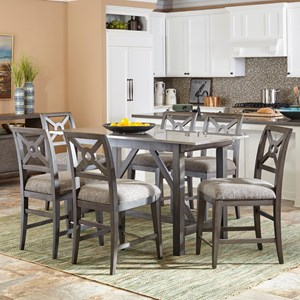 Trisha Yearwood Home Collection by Klaussner Music City 7 Pc Counter Height Dining Set