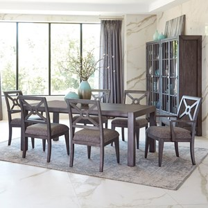 Trisha Yearwood Home Collection By Klaussner Music City 7 Pc Dining Set