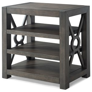 "Trisha Yearwood Home Collection by Klaussner Music City ""Lying To The Moon"" Open Shelf Night Table"