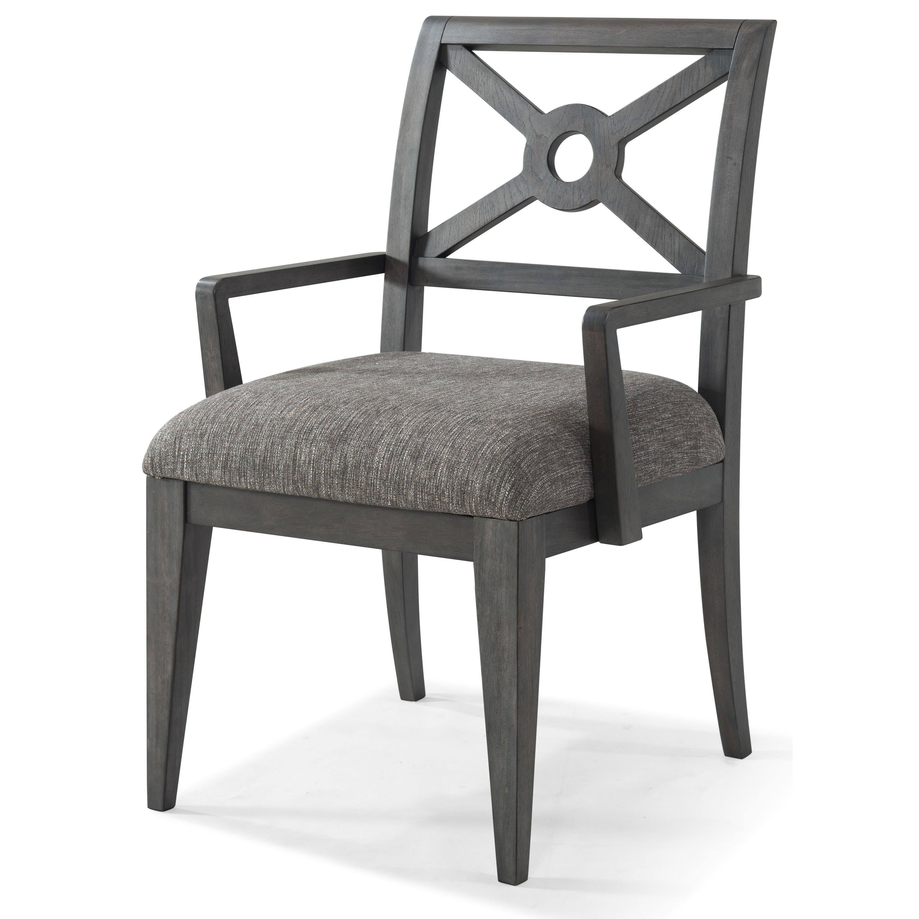 """Trisha Yearwood Home Collection by Klaussner Music City """"Under The Rainbow"""" Uph. Arm Chair - Item Number: 925-906SU DRC"""