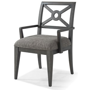 """Trisha Yearwood Home Collection by Klaussner Music City """"Under The Rainbow"""" Uph. Arm Chair"""
