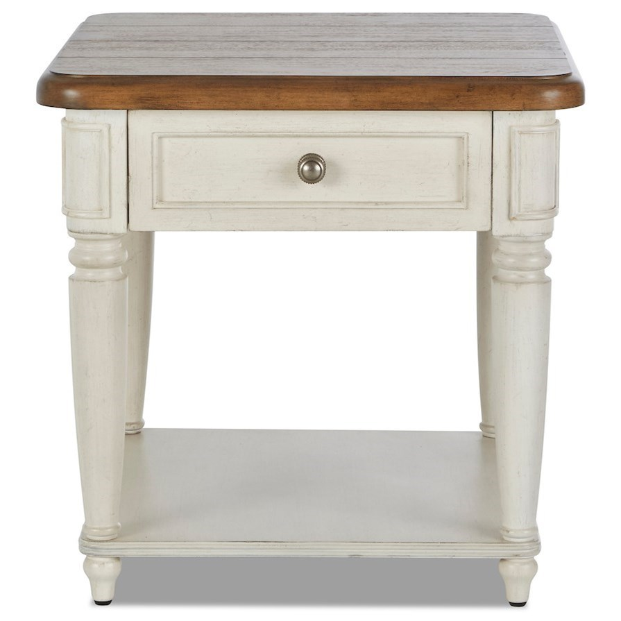 Nashville Encore End Table by Trisha Yearwood Home Collection by Klaussner at Johnny Janosik