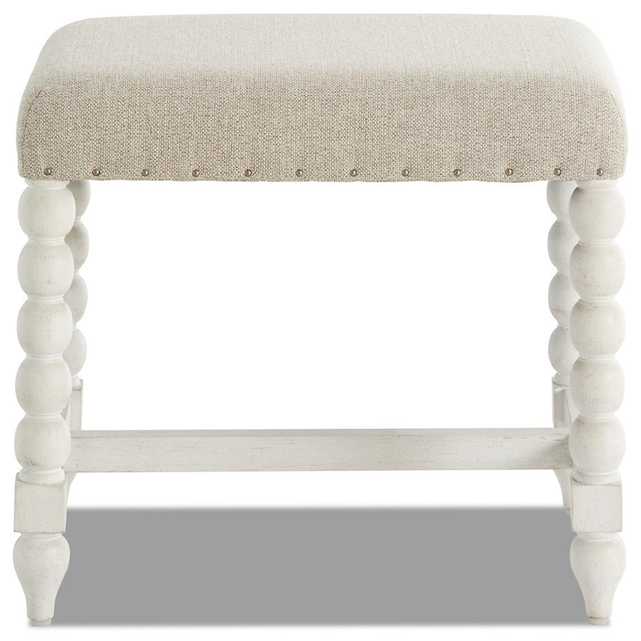 Nashville Broadway Vanity Stool by Trisha Yearwood Home Collection by Klaussner at Johnny Janosik
