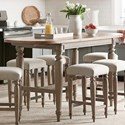 Trisha Yearwood Home Collection by Klaussner Nashville Allentown Dining Room Table - Item Number: 750-036 DRT