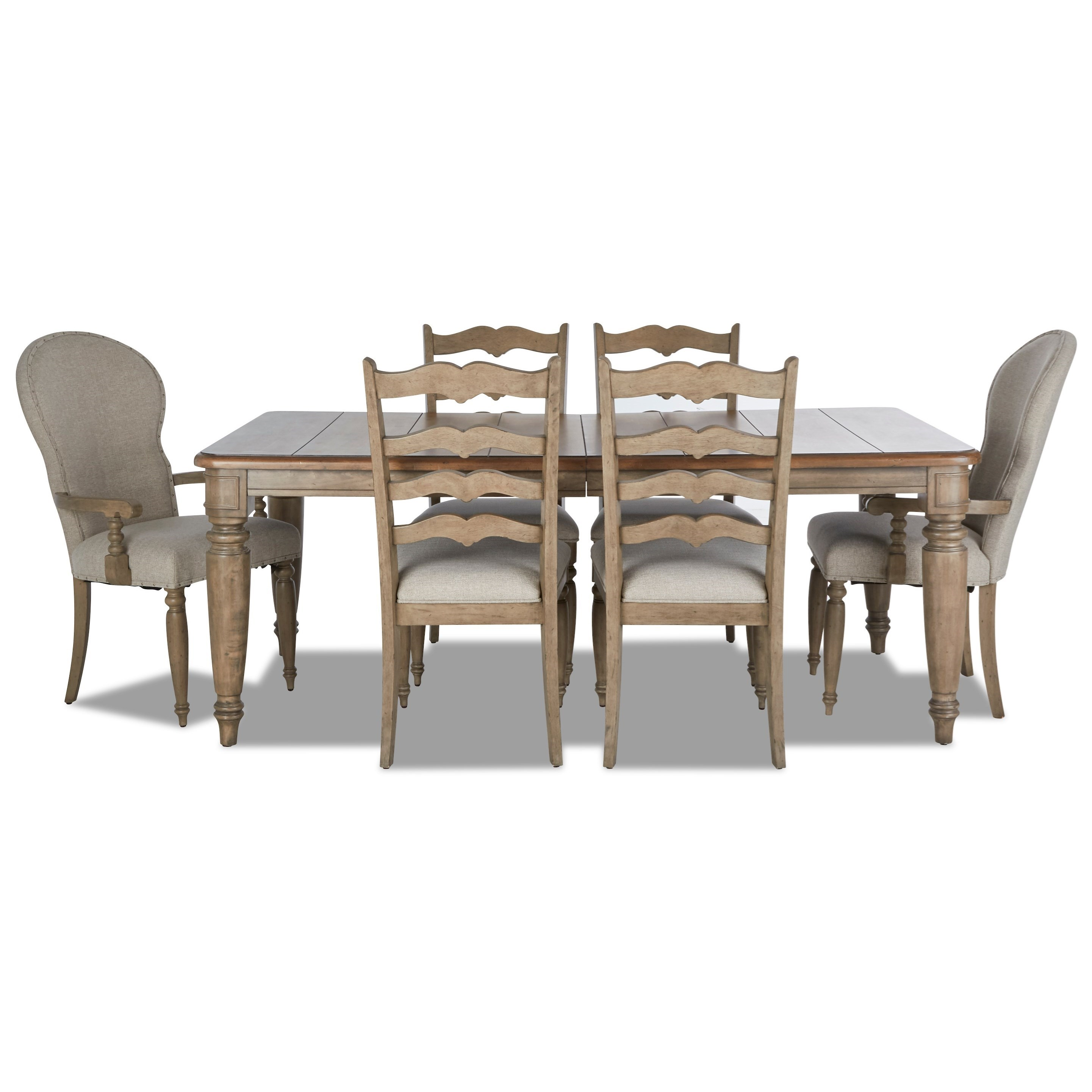 Nashville 7-Piece Dining Set by Trisha Yearwood Home Collection by Klaussner at Johnny Janosik