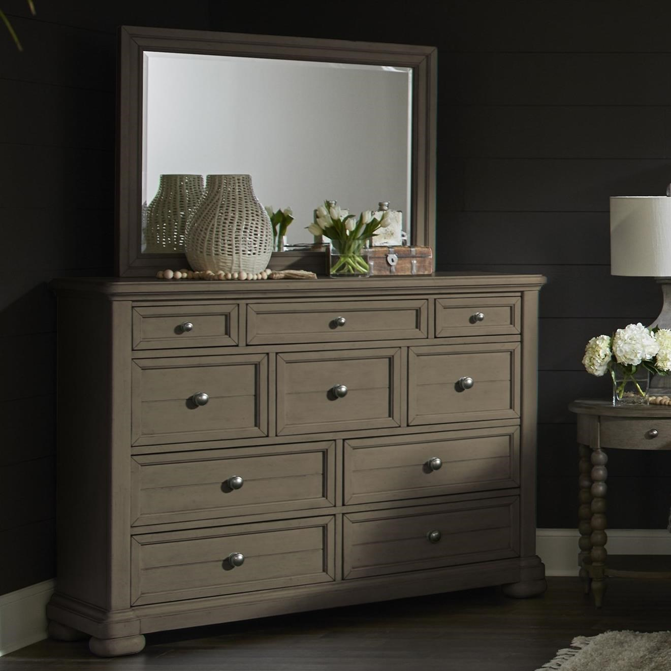 Nashville Dresser + Mirror Set by Trisha Yearwood Home Collection by Klaussner at Johnny Janosik