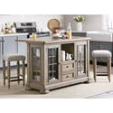 Trisha Yearwood Home Collection by Klaussner Nashville 3-Piece Dining Set - Item Number: 750-885 ISLAN+2X924 STOOL