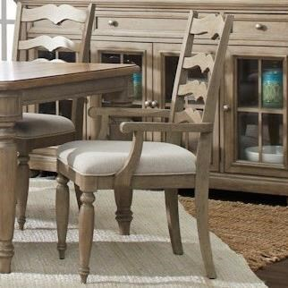 Nashville Concord Ladderback Arm Chair by Trisha Yearwood Home Collection by Klaussner at Johnny Janosik