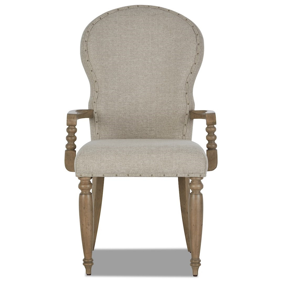 Nashville Church Street Uph Arm Chair by Trisha Yearwood Home Collection by Klaussner at Johnny Janosik