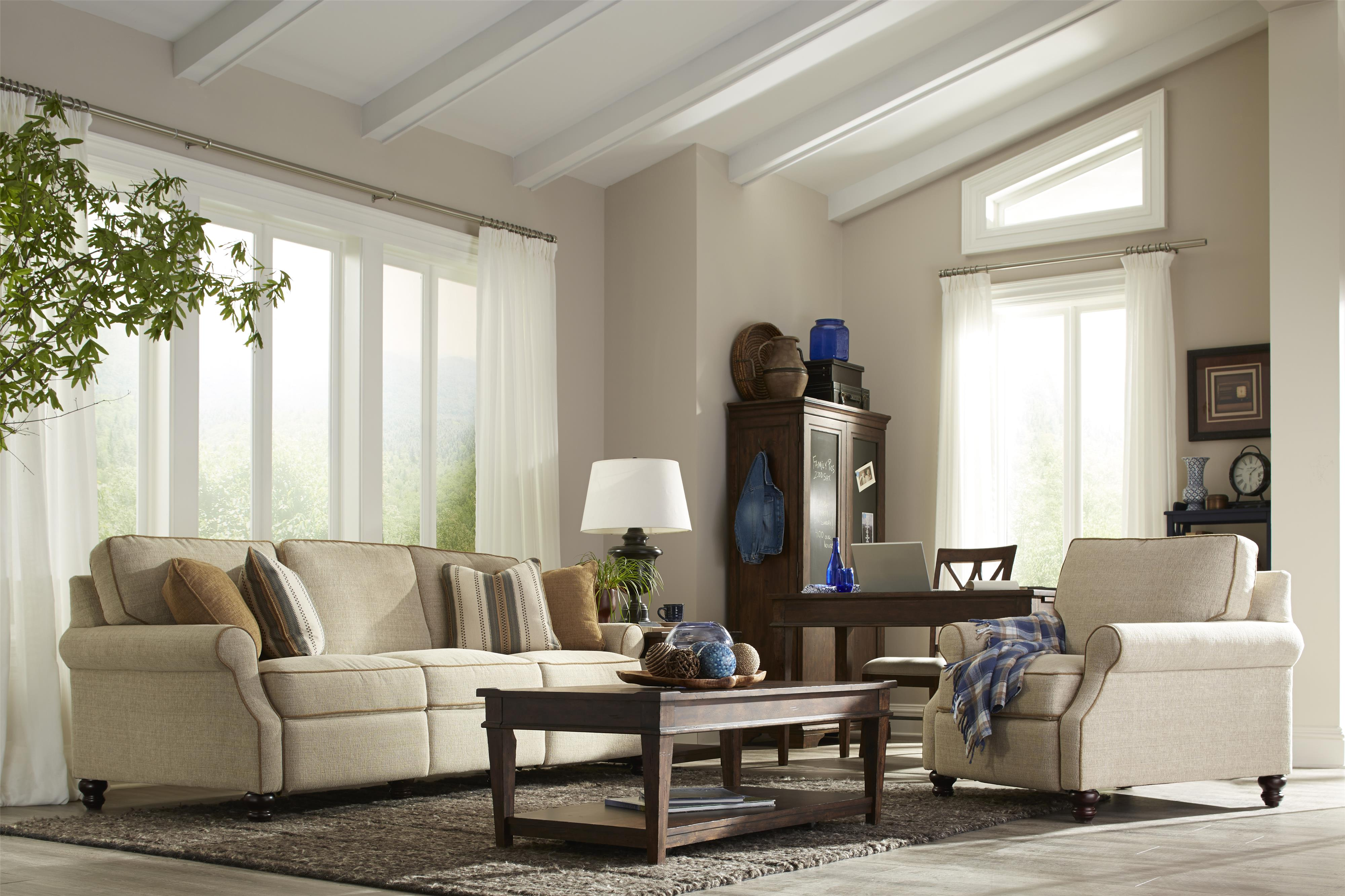 5 Living Rooms That Prove The Power Of Symmetry: Trisha Yearwood Home Tifton Traditional Power Hybrid Sofa