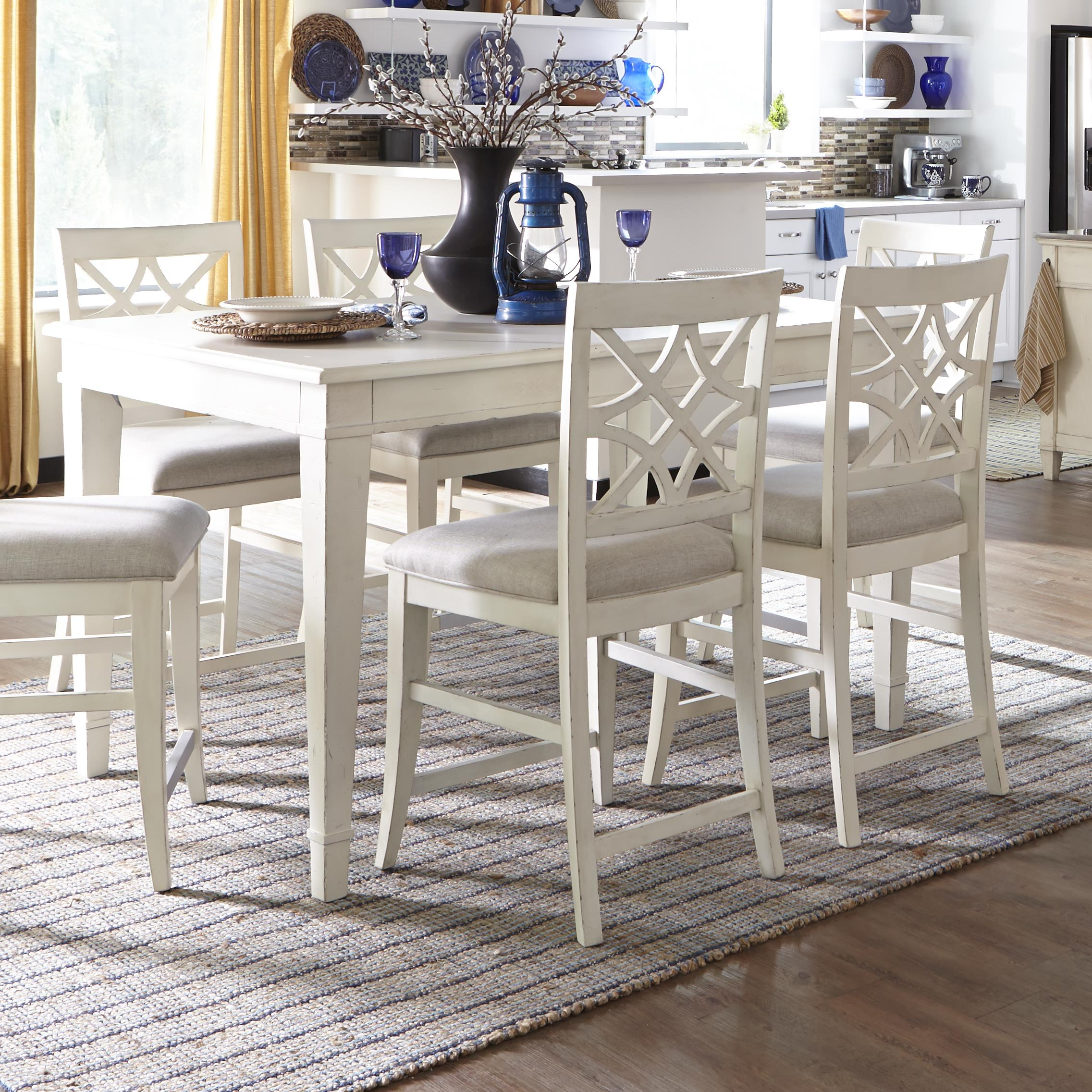 trisha yearwood home collection by klaussner trisha yearwood home southern kitchen counter height table item - Kitchen Counter Tables