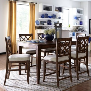 Trisha Yearwood Home Collection by Klaussner Trisha Yearwood Home 7 Piece Counter Height Table and Chairs Set