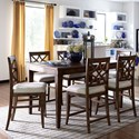 Trisha Yearwood Home Collection by Klaussner Trisha Yearwood Home 7 Piece Counter Height Table and Chairs Set - Item Number: 920-036 DRT+6x925-DRC