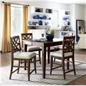 Trisha Yearwood Home Collection by Klaussner Trisha Yearwood Home 5PC Counter Height Dining Set - Item Number: 920-036+4x925