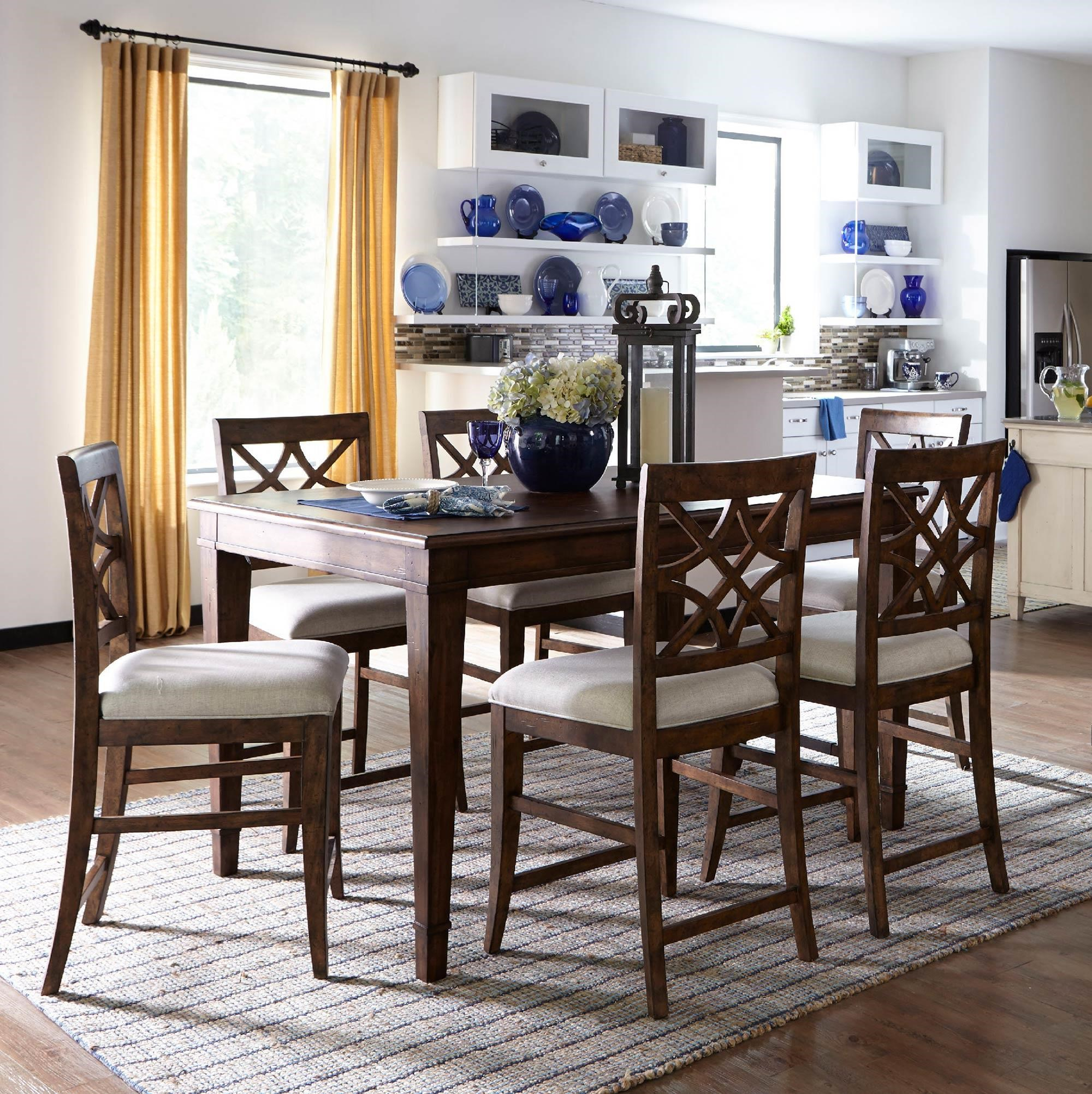7PC Counter Height Table & Stool Set
