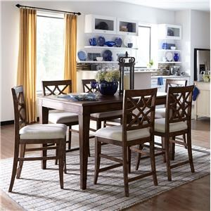 Trisha Yearwood Home Collection By Klaussner 7PC Counter Height Table Stool Set
