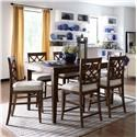 Trisha Yearwood Home Collection by Klaussner Trisha Yearwood Home 7PC Counter Height Table & Stool Set - Item Number: 920-036+6x925