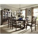 Trisha Yearwood Home Trisha Yearwood Home Trisha's Trestle Table with 18 Inch Leaf