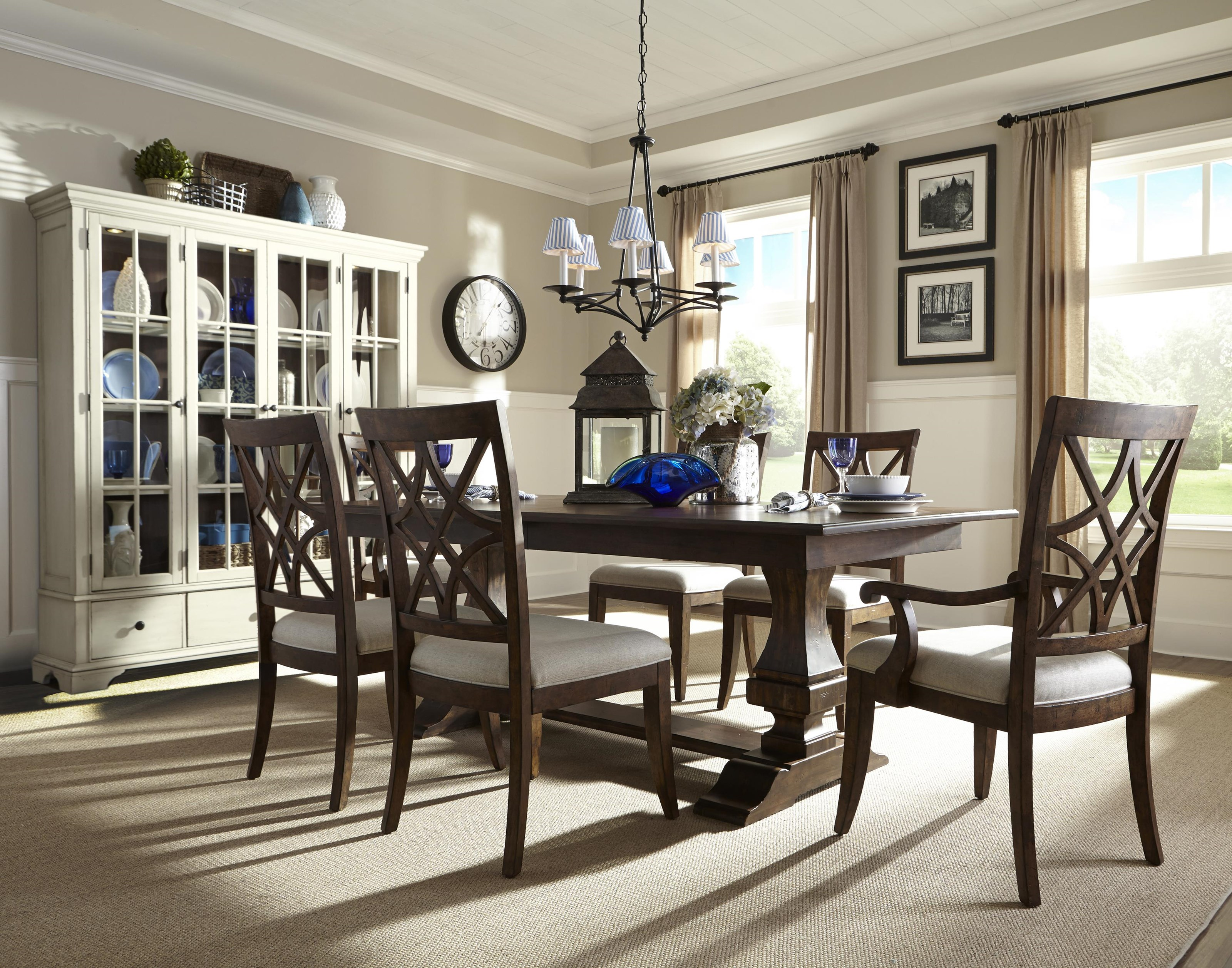 9 Piece Table and Chair Set with Curio China