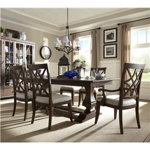 Trisha Yearwood Home Collection by Klaussner Trisha Yearwood Home Trestle Table and Chairs Set