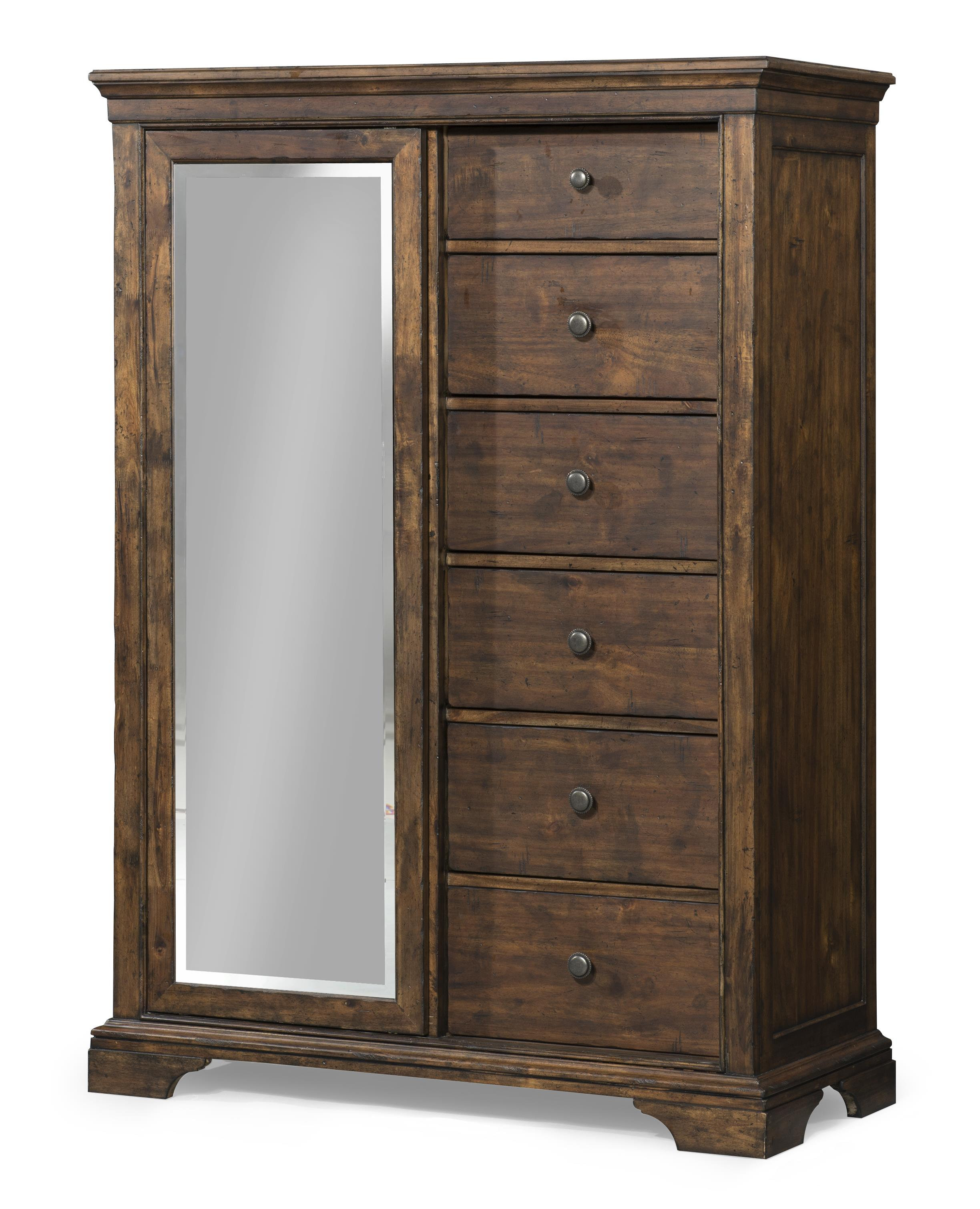 Trisha Yearwood Home Trisha Yearwood Home Tulsa Sliding Door Chest With Mirror Belfort Furniture Door Chests