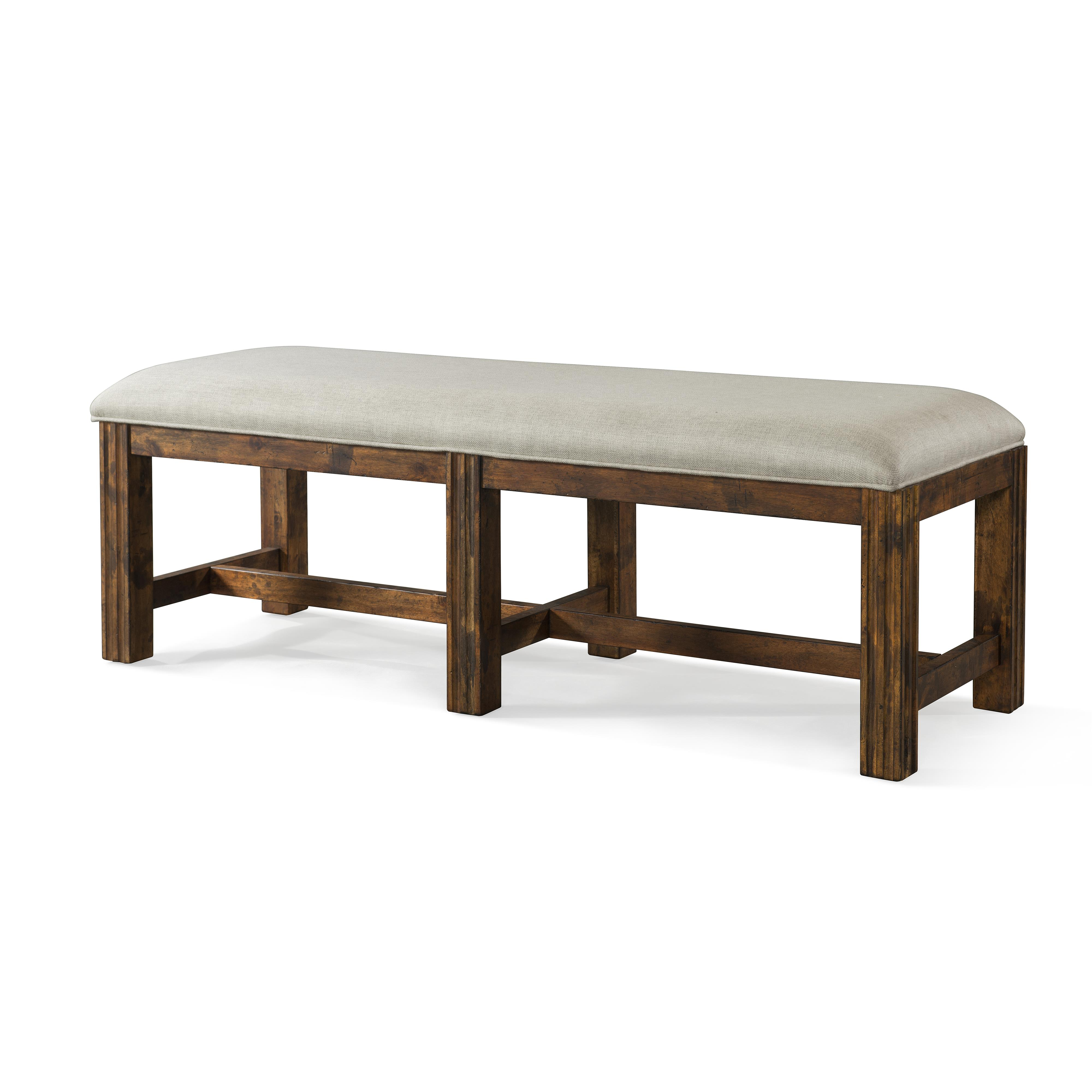 Trisha Yearwood Home Carroll Bench With Upholstered Seat By Trisha Yearwood Home Collection By Klaussner At Royal Furniture
