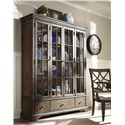 Trisha Yearwood Home Collection by Klaussner Trisha Yearwood Home Monticello Curio Cabinet with Additional Drawer Storage and Paned Glass Doors