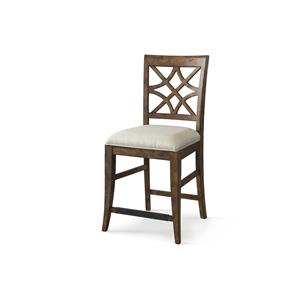 Trisha Yearwood Home Collection by Klaussner Trisha Yearwood Home Nashville Counter Height Chair with Lattice