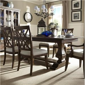 Klaussner Trisha Yearwood Home 5 Piece Dining Package