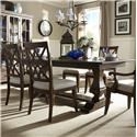 Klaussner Trisha Yearwood Home 5 Piece Dining Package - Item Number: TRI480012+4xTRI480013