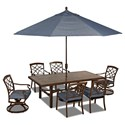 Trisha Yearwood Home Collection by Klaussner Trisha Yearwood Outdoor 11FT Auto Tilt Umbrella - Other Pieces Sold Separately